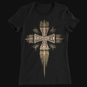 Disturbed Asylum Cross Juniors T-Shirt