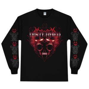 Disturbed Old School Metal Longsleeve T-Shirt