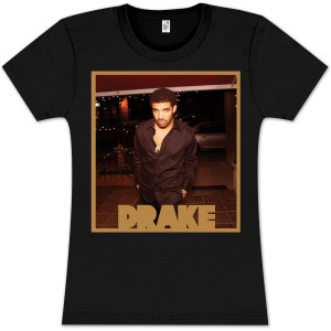 Drake Gold Square Photo Babydoll T-Shirt