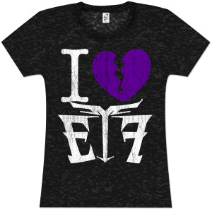 Escape the Fate I (Heart) ETF Girlie T-Shirt