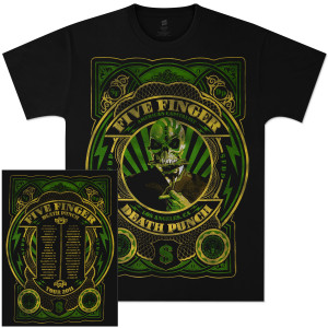 Five Finger Death Punch Money Makes 2011 Tour T-Shirt