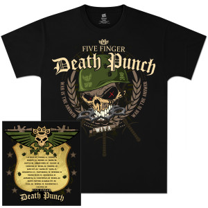 Five Finger Death Punch Warhead 2012 Tour T-Shirt