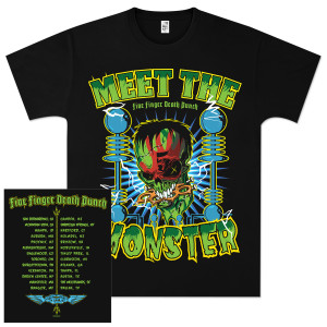 Five Finger Death Punch Meet the Monster Tour T-Shirt