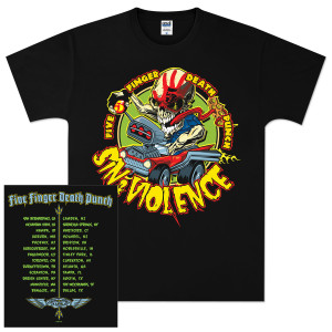 Five Finger Death Punch Sin & Violence Tour T-Shirt
