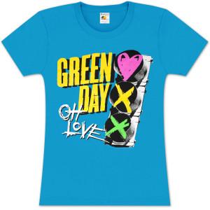 Green Day Red Light Love Girlie T-Shirt