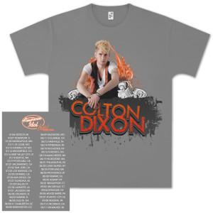 American Idol Live Colton Dixon Flame Drip Tour T-Shirt