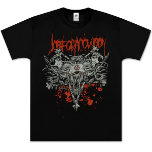 Job For a Cowboy Bone Pentagram T-Shirt