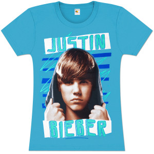 Justin Bieber Zig Zag Juniors Girlie T-Shirt