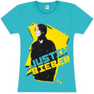 Justin Bieber Star Blast Girlie T-Shirt