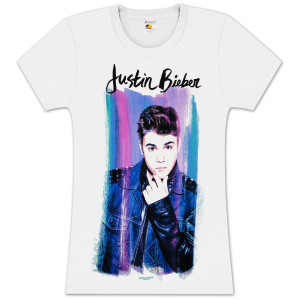 Justin Bieber Ladies Paint Tunic Shirt