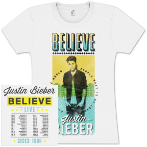 Justin Bieber Around the World Juniors T-Shirt