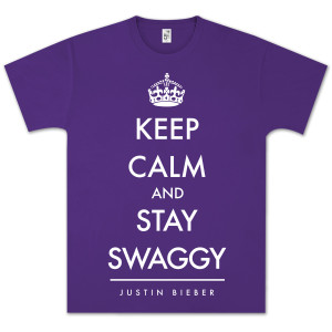 Justin Bieber Keep Calm and Swaggy T-Shirt
