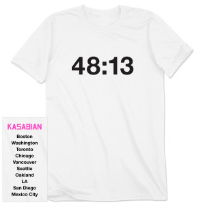 Kasabian 48:13 White Tour T-Shirt