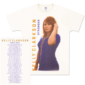 Kelly Clarkson Vertical Logo Tour T-Shirt