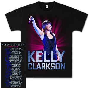 Kelly Clarkson Live Shot 2012 Tour T-Shirt