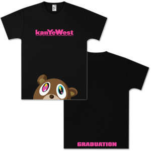 Kanye West Half Bear Black T-Shirt