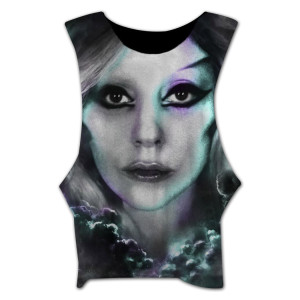 Lady Gaga Close Up Bodybuilder Tank