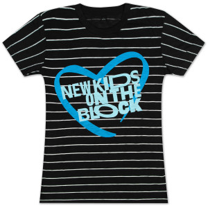 NKOTB Striped Babydoll T-Shirt