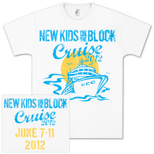 New Kids on the Block 2012 Cruise Big Ship T-Shirt