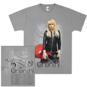 Orianthi Leather And Strings Charcoal T-Shirt