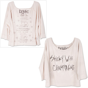 Semi Precious Weapons Ladies' Lyrics Cloak Shirt