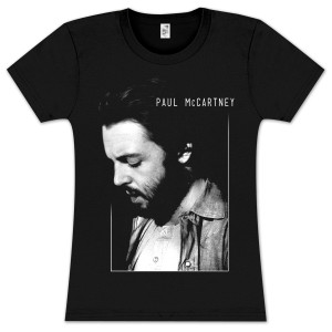 Paul McCartney Profile Framed Girls T-Shirt