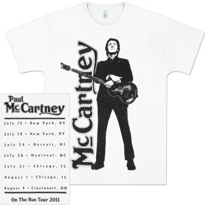 Paul McCartney Triumph 2011 Tour T-Shirt