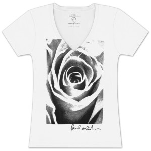 Paul McCartney Roses Girlie V-Neck T-Shirt