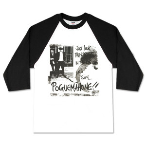 The Pogues White/Black Raglan