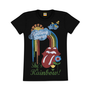 Rolling Stones She's A Rainbow Juniors Girlie T-Shirt