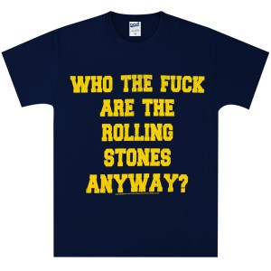 Rolling Stones Who the F Navy T-Shirt