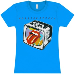 Rolling Stones TV Lips Turquoise Women's T-Shirt