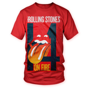 Rolling Stones 14 On Fire T-Shirt