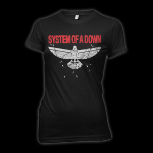 System Of A Down Overcome Juniors T-Shirt