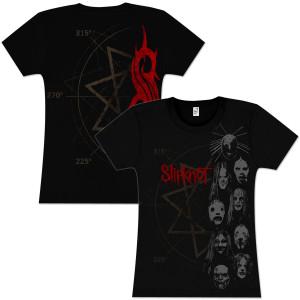 Slipknot Stacked Heads Girlie T-Shirt