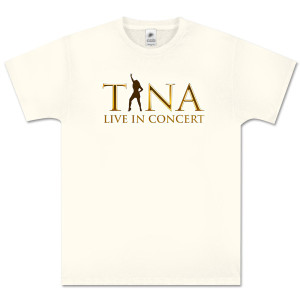 Tina Turner Silhouette Beige T-Shirt