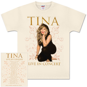 Tina Turner Natural Decorative Photo T-Shirt