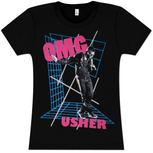 Usher OMG Girlie Pop T-Shirt