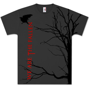 We Are The Fallen All-Over Tree Charcoal T-Shirt