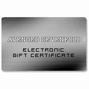 Avenged Sevenfold Electronic Gift Certificate