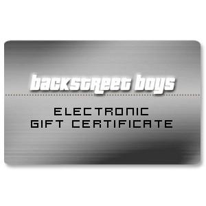 Backstreet Boys Electronic Gift Certificate