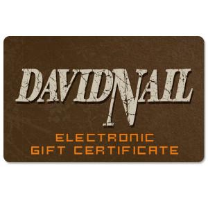 David Nail Electronic Gift Certificate