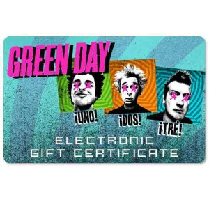 Green Day Electronic Gift Certificate