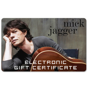 Mick Jagger Electronic Gift Certificate