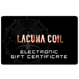 Lacuna Coil Electronic Gift Certificate