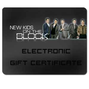 New Kids on the Block Electronic Gift Certificate