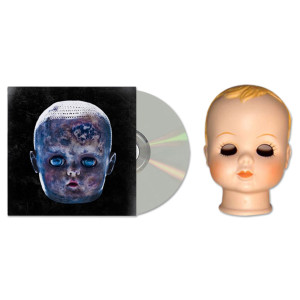 Black Dots of Death Slit Your Throat Series Baby Doll Head and CD
