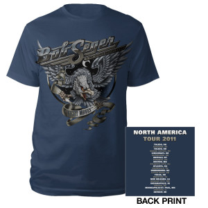 Bob Seger Navy 2011 Night Moves Tour Tee