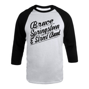 Bruce Springsteen and the E Street Band Script Raglan Tee