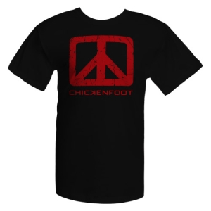 Chickenfoot Black Logo Tee w/Red Art Sm